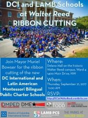 Walter Reed DCI Ribbon Cutting 9-21-17
